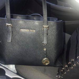 Michael Kors black leather purse